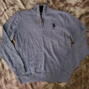 Boys blue half-zip sweater large 14-16